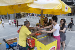 Ice cream seller in Singapore Royalty Free Stock Photo