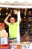 Ice cream seller in Sirince, Turkey Royalty Free Stock Photos