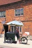 Ice cream seller, Stratford-upon-Avon. stock photos