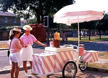 Ice Cream Sellers, Broadway. Royalty Free Stock Photo