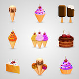Ice cream set Royalty Free Stock Photos