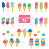 Ice cream set. Stock Images