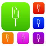 Ice Cream set collection. Ice Cream set icon in different colors isolated vector illustration. Premium collection Royalty Free Stock Image