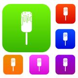 Ice Cream set collection. Ice Cream set icon in different colors isolated vector illustration. Premium collection Stock Photos