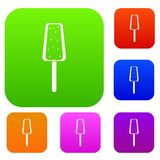 Ice Cream set collection. Ice Cream set icon in different colors isolated vector illustration. Premium collection Stock Images
