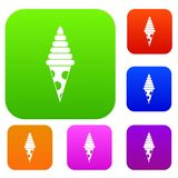 Ice Cream set collection. Ice Cream set icon in different colors isolated vector illustration. Premium collection Royalty Free Stock Photography