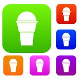 Ice Cream set collection. Ice Cream set icon in different colors isolated vector illustration. Premium collection Stock Image