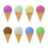 Ice cream set Royalty Free Stock Images