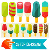 Ice cream set Stock Photography
