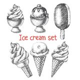 Ice cream set. Stock Photo