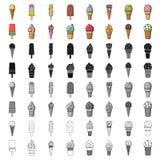 Ice cream set icons in cartoon style.. Ice cream set icons in cartoon design. Big collection of ice cream vector symbol stock illustration Royalty Free Stock Images