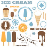 Ice Cream. Set Stock Images