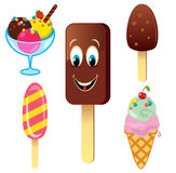 Ice cream set Royalty Free Stock Image