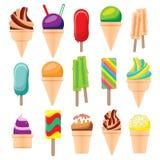 Ice Cream Set Isolated on White Background. Vector Illustration Royalty Free Stock Images