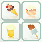 Ice Cream - set labels Royalty Free Stock Photo