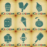 Ice Cream - set labels Stock Images