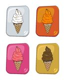 Ice cream set Stock Photo