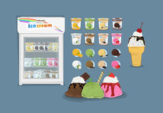 Ice cream set a variety Royalty Free Stock Photography