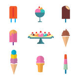 Ice cream set Royalty Free Stock Photography