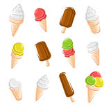 Ice cream set. Vector. Illustration Royalty Free Stock Image