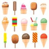 Ice Cream Set. Vector Illustration. Ice Cream Set Isolated on White Background. Vector Illustration Royalty Free Stock Photography