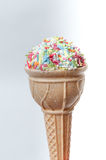Ice cream shaped high calorie sweet snack Royalty Free Stock Photo