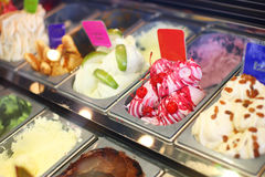 Ice cream in shop Stock Photo