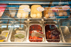 Ice cream shop. With different flavours Royalty Free Stock Image
