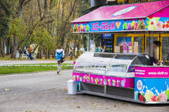 Ice cream shop at Attraction park Stock Photography