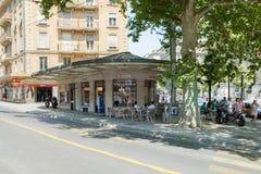 The ice cream shop on Chante in Geneva Stock Photos