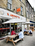 Ice cream shop in  edinburgh,scotland Royalty Free Stock Image