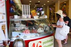 Ice Cream Shop - Greece Island Stock Images