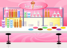Ice cream shop Royalty Free Stock Image