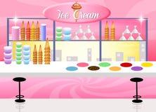 Ice cream shop. Illustration of ice cream shop
