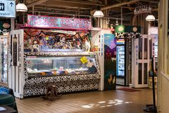 Ice cream shop inside Pike Market in Seattle, Washington, USA stock images