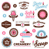 Ice cream shop labels Stock Image