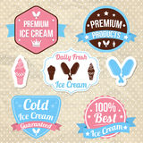 Ice Cream shop Logo badges Royalty Free Stock Photography