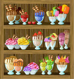 Ice cream shop. Stock Photos