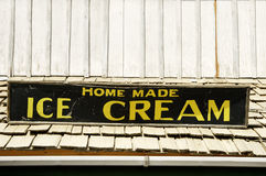 Ice cream sign. Sign for home made ice cream Stock Photos