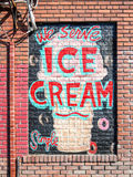 Ice cream sign Royalty Free Stock Image