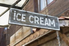 Ice cream sign Stock Images