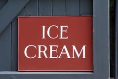Ice Cream sign Stock Image