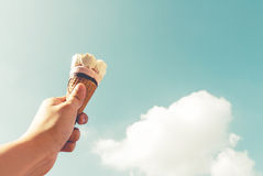 Ice cream on sky Royalty Free Stock Images