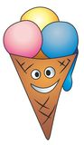 Ice cream with smile Royalty Free Stock Photo