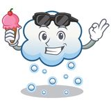With ice cream snow cloud character cartoon Royalty Free Stock Images