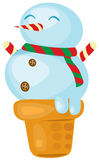 Ice cream snowman Royalty Free Stock Photo