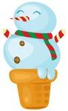 Ice cream snowman Royalty Free Stock Photo