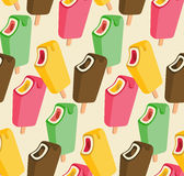 Ice cream song colorful seamless pattern Royalty Free Stock Photos