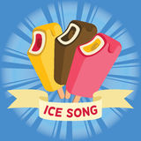 Ice cream song colorful vector Royalty Free Stock Image