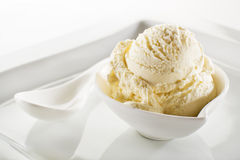 Ice cream sorbet. Fresh fruit sorbet ice cream in a white bowl close up Stock Photo